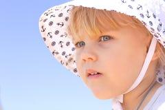Girl in panama Stock Photography