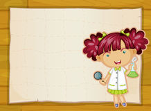 Girl and paper sheet Royalty Free Stock Images