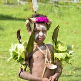 Girl Papua New Guinea with painted crocodile skin Royalty Free Stock Photos
