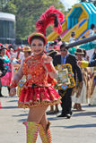 Girl in parade of Bolivian Independence Day parade in Brazil Royalty Free Stock Images