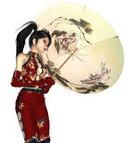 Girl with Parasol Stock Image