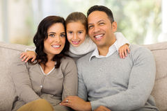 Girl parents home Stock Photography