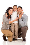 Girl with parents Royalty Free Stock Image