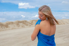 Girl in pareo on the beach Stock Photo