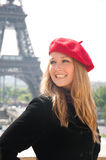 Girl in Paris Stock Photography