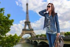 Girl at Paris Stock Images