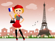 Girl in Paris Stock Photo