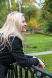The girl in park Royalty Free Stock Photo