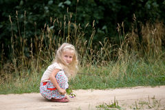 Girl in park stock photography