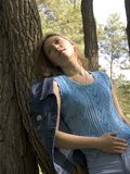 Girl in the park. Relaxation in the park Stock Images