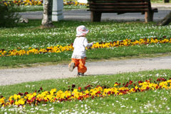 Girl in park Stock Images