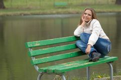 Girl in the park Stock Photo