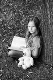 Girl in a park. Royalty Free Stock Photography