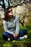 Girl in a park Stock Photography