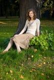 Girl in park Stock Image