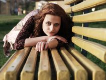 Girl in a park Stock Images
