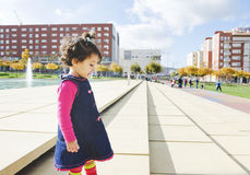 Girl at park. Alone with sun light Stock Photography