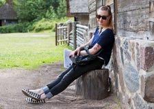 Girl in park Royalty Free Stock Photo