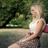 Girl in the park Stock Photography