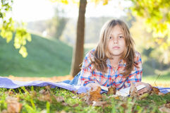 Girl in the park Stock Images