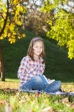 Girl in the park Stock Image