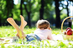 Girl in park Royalty Free Stock Image