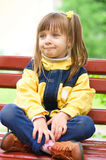 Girl at the park. Little cute girl at the park Royalty Free Stock Photos