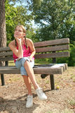 Girl in a Park, Outdoor Setting Stock Photos