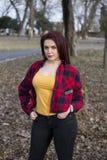 Girl in park. Relax, springtime Stock Photo