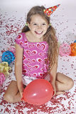 Girl at a party Royalty Free Stock Image