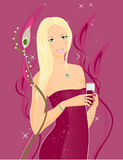 A girl at a party Royalty Free Stock Photography
