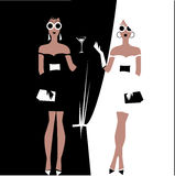 Girl in the party. Colour illustration of two girl in the party Royalty Free Stock Image