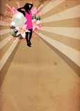 Girl at the party background Royalty Free Stock Images