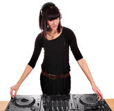 Girl party dj Royalty Free Stock Photography