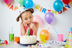 Girl at party Royalty Free Stock Photography