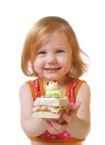 Girl with pastry Stock Image