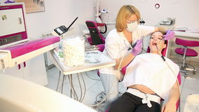 Girl patient and dentist Royalty Free Stock Images