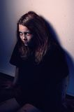 Girl patient of mental home Royalty Free Stock Images