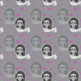 Girl pattern Royalty Free Stock Images