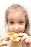Girl with the patty Royalty Free Stock Photo