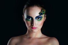 Girl peacock Stock Image