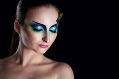 Girl peacock Royalty Free Stock Image