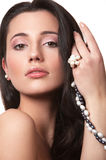Girl with pearl Royalty Free Stock Photo