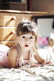 Girl with pearl necklace Royalty Free Stock Photography