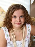 Girl with Pearls Stock Photos