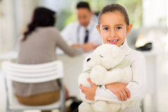 Girl pediatrician office Royalty Free Stock Image