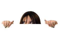 Girl Peeking Stock Image