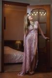 Girl in peignoir. Royalty Free Stock Photos