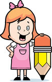 Girl Pencil Royalty Free Stock Image