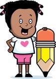 Girl Pencil Stock Photography